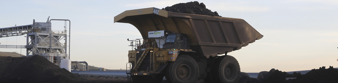 Caterpillar 793 Mine haul truck with the EVO-MT System installed