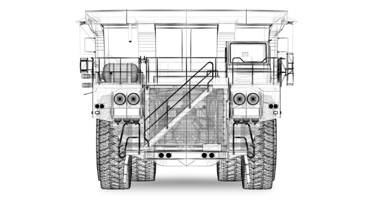Mine Haul Truck - Front View